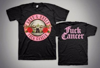 Guns N Roses Recaudan Dinero Para Luchar Contra El Cáncer Vendiendo Una Camiseta Benéfica