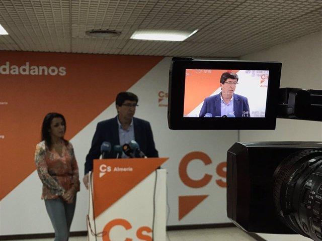 Marín, en rueda de prensa en Almería