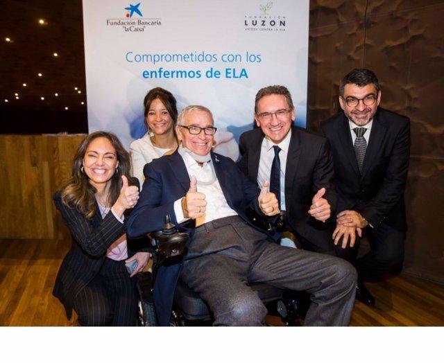 Presentación acuerdo Fundación La Caixa y Francisco Luzón