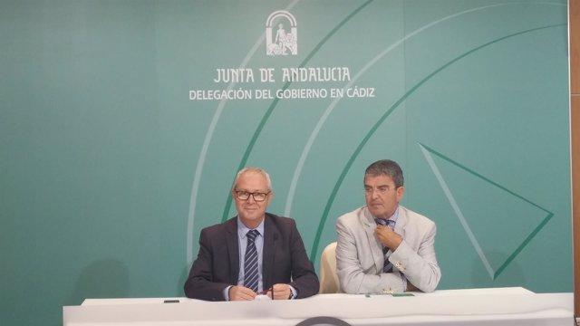 Los delegados de la Junta de Cádiz, Juan Luis Belizón y Manuel Herrera