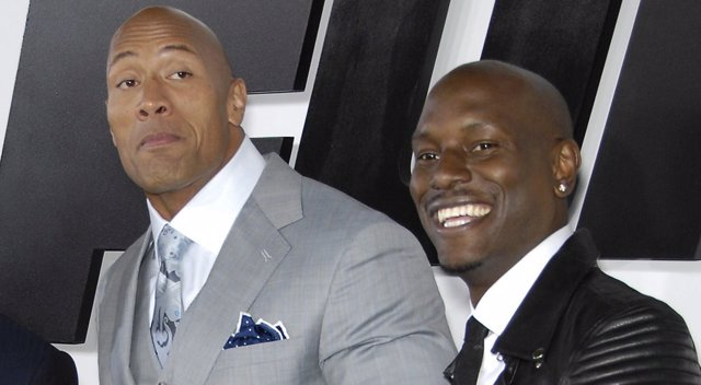 Tyrese Gibson y Dwayne Johnson