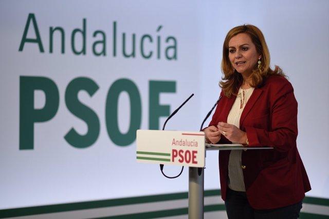 La secretaria de Política Municipal del PSOE-A, María Jesús Serrano