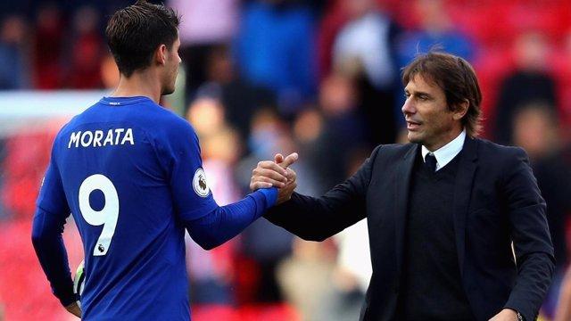 Morata y Conte (Chelsea)