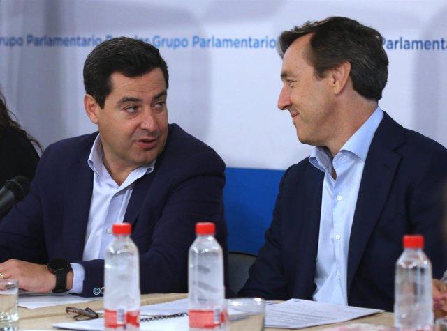 Juanma Moreno, hoy junto a Rafael Hernando