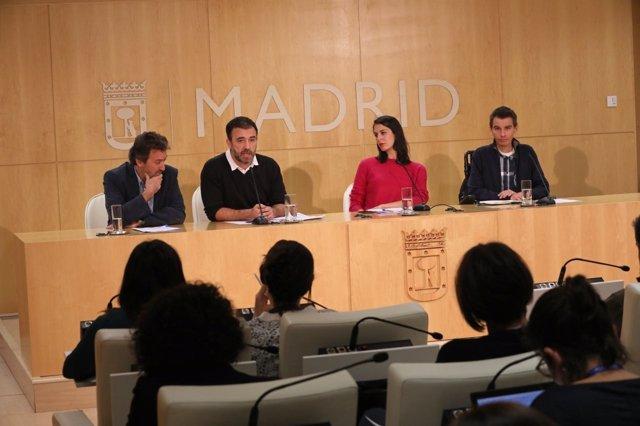 Mauricio Valiente, Nacho Murgui, Rita Maestre y Pablo Soto