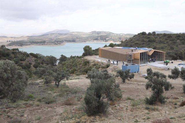 Centro de visitantes caminito del rey obras 90% ejecución