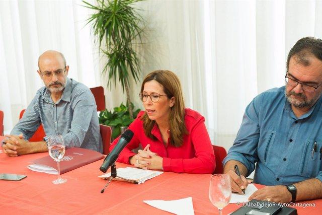 Desayuno de la alcaldesa, Ana Belén Castejón, con la prensa
