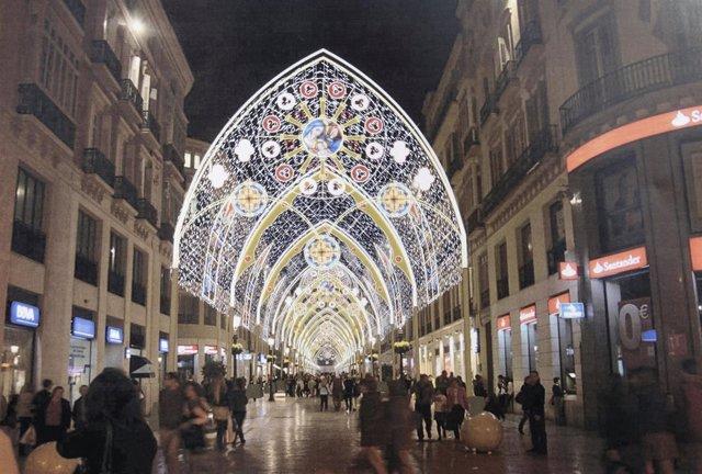 Iluminación málaga capital espectáculo luz y sonido navidad 2017