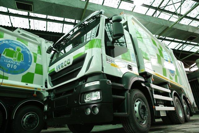 Camiones de basura de Madrid