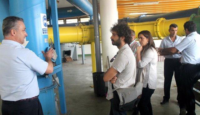 Julián Moreno visita las instalaciones de Lipasam.