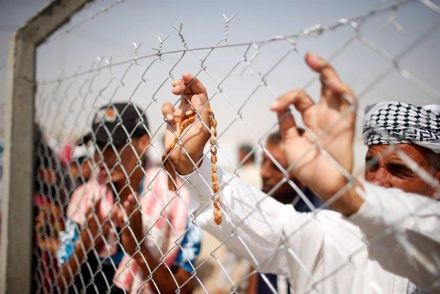 Desplazados al sur de Mosul