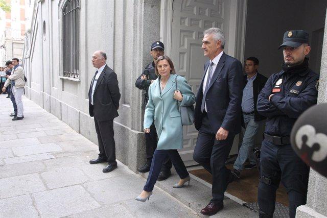 Forcadell sale del Tribunal Supremo