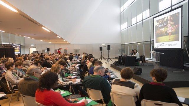 El I Congreso Aragonés AECC en el Palacio de Congresos.