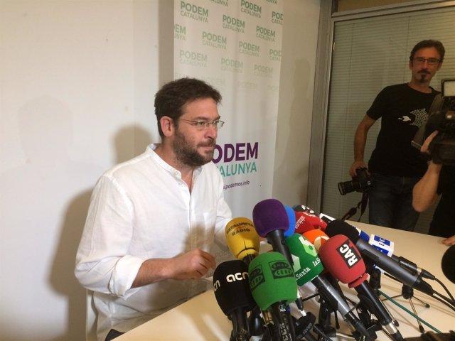 El secretario general de Podem, Albano Dante-Fachin