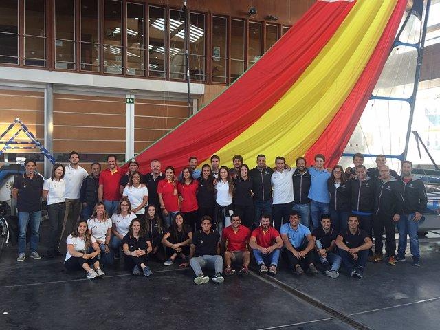 El equipo preolímpico de vela reunido en Santander