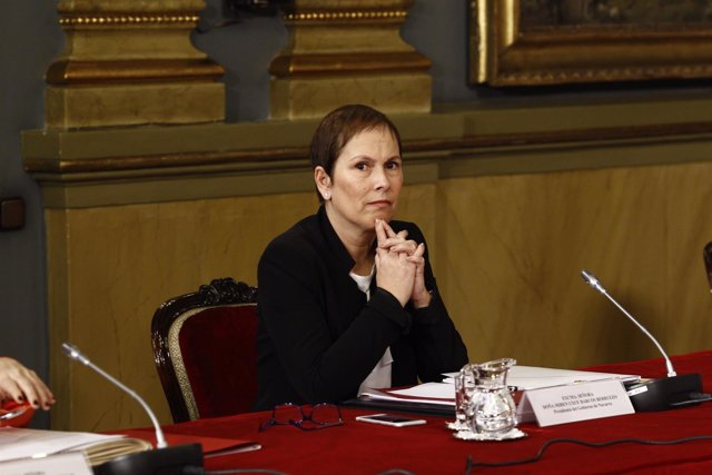 Uxue Barkos en la primera sesión de trabajo de la Conferencia de Presidentes