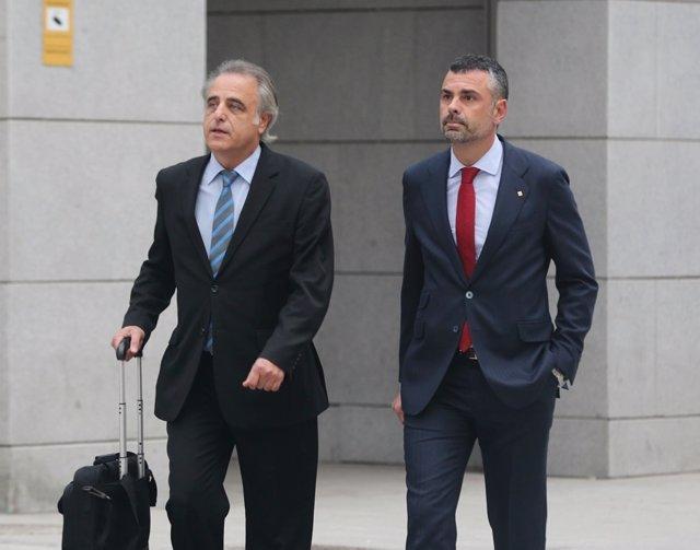 Santi Vila llega a la Audiencia Nacional para declarar por rebelión