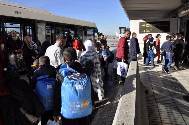 Refugiados llegan a España desde Turquía