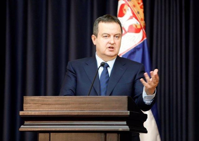 Ministro de Exteriores serbio, Ivica Dacic