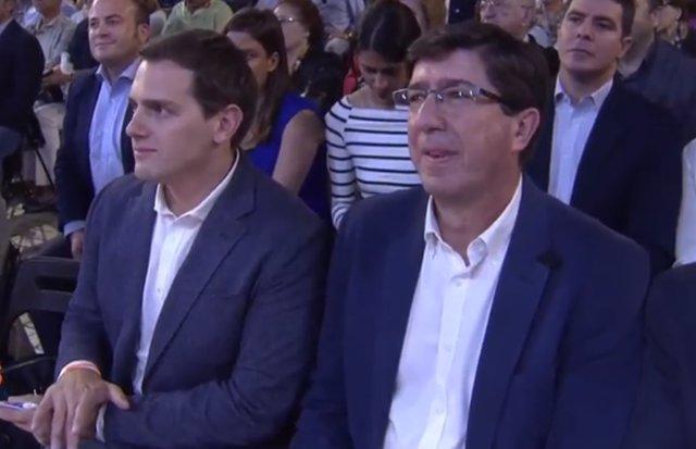 Albert Rivera y Juan Marín (Cs) en Almería