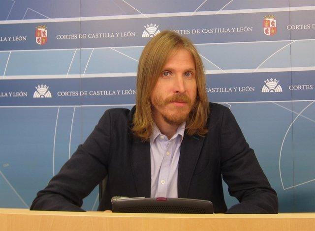 El portavoz de Podemos en las Cortes de Castilla y León, Pablo Fernández