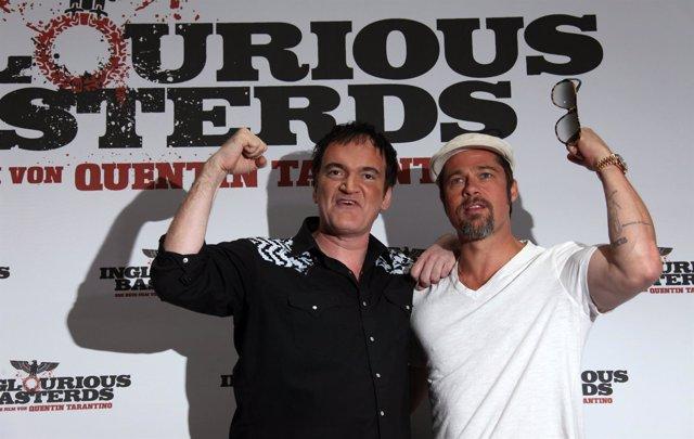 Quentin Tarantino y Brad Pitt