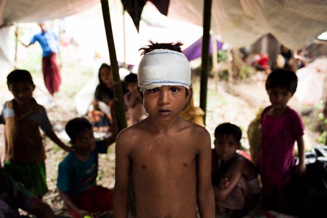 Niño Roingya refugiado