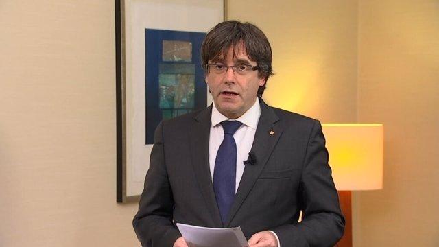 El presidente cesado Carles Puigdemont