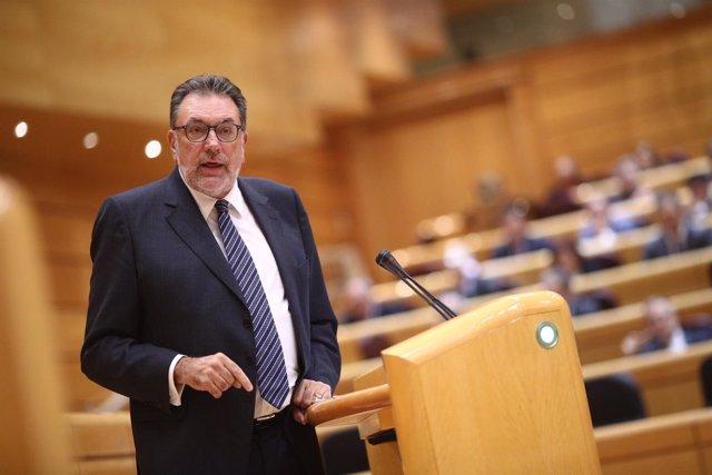 El portavoz del PDeCAT en el Senado, Josep Lluís Cleries