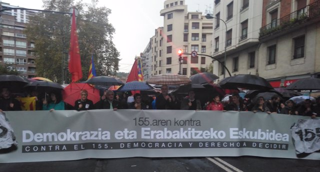 Manifestación contra el 155 en Bilbao, 4 de noviembre 2017