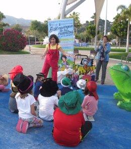 Bibliotecas salen a la calle cuentacuentos lectura niños infantil parque libros
