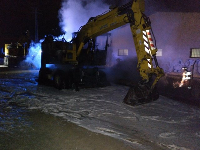 Maquinaria quemada