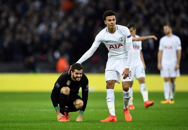 Dele Alli Nacho Tottenham Hotspur Real Madrid Wembley