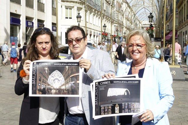 TEresa Porras presentación alumbrado de Navidad 2017 calle larios málaga capital