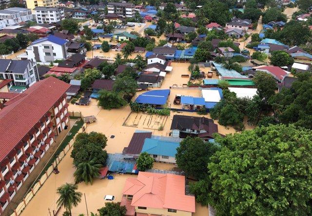 Inundaciones en George Town, Malasia