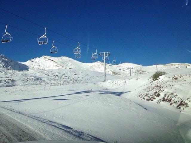 Estación de esquí de Alto Campoo. Imagen de archivo
