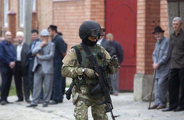 Soldado en Ingusetia