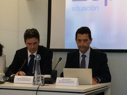 BBVA rebaja su previsión de crecimiento al 3,1% este año y al 2,5% en 2018 por Cataluña