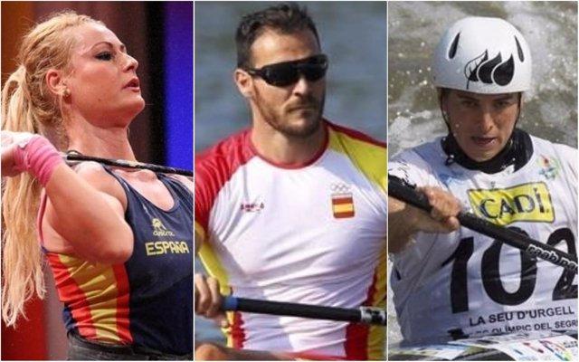 Lidia Valentín, Saúl Craviotto y Maialen Chorraut, Premios Nacionales Deporte