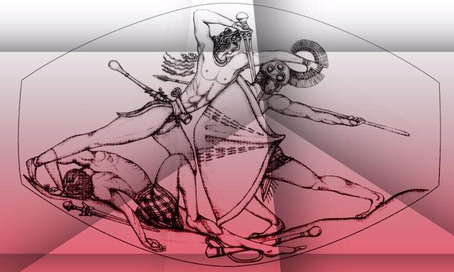 Reproducción de la escena del sello