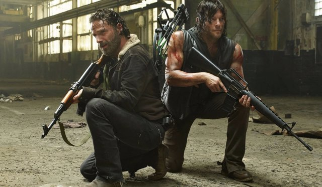 Andrew Lincoln y Norman Reedus en 'The Walking Dead'