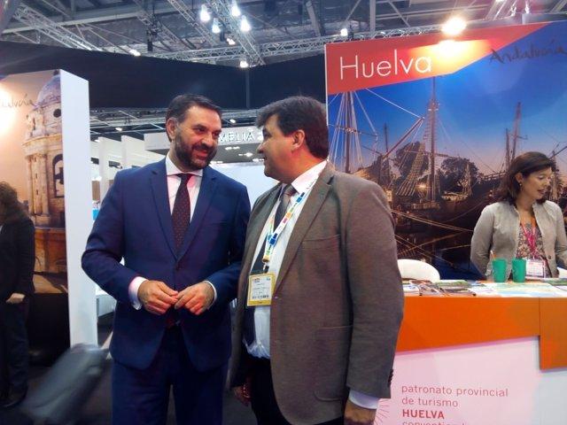 El consejero de Turismo de la Junta de Andalucía, en la WTM