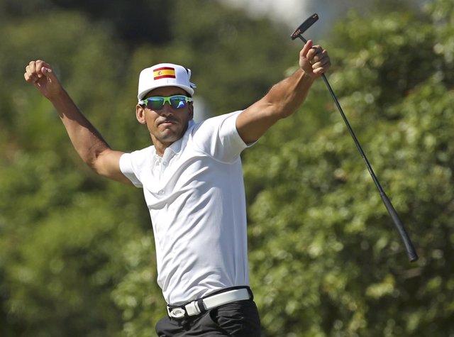 El golfista canario Rafael Cabrera Bello
