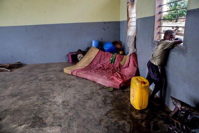 Escuela de Kasai que acoge a desplazados por la violencia