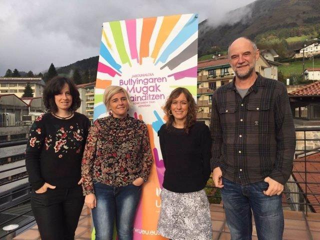 Ezkerretik eskuinera: Goenaga, Moreno, Elduaien eta Alegria