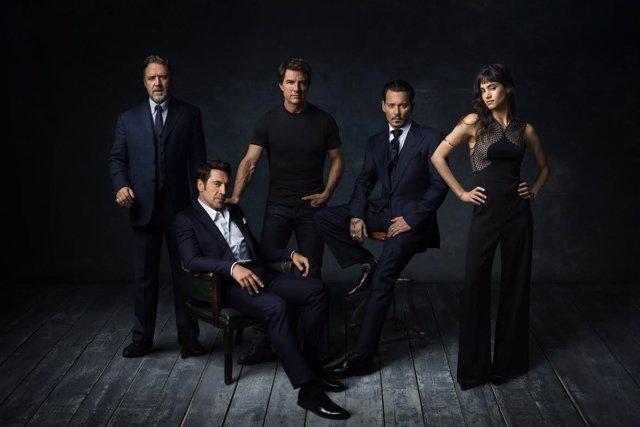 Dark Universe: Russel Crowe,Javier Bardem,Tom Cruise,Johny Deep y Sofia Boutella
