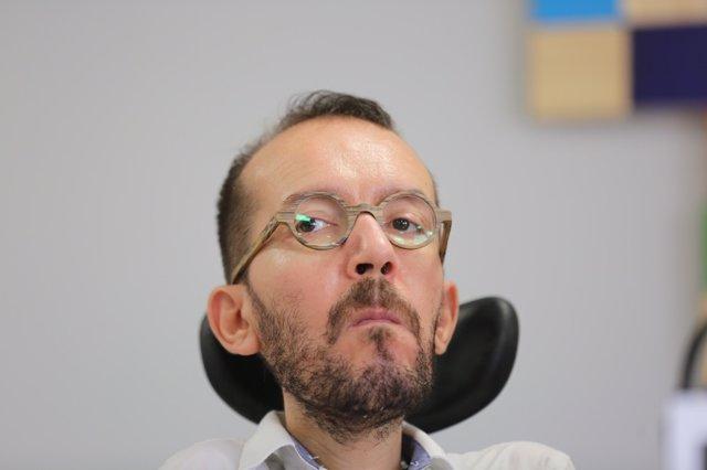 Pablo Echenique ofrece una rueda de prensa tras el Consejo de Coordinación