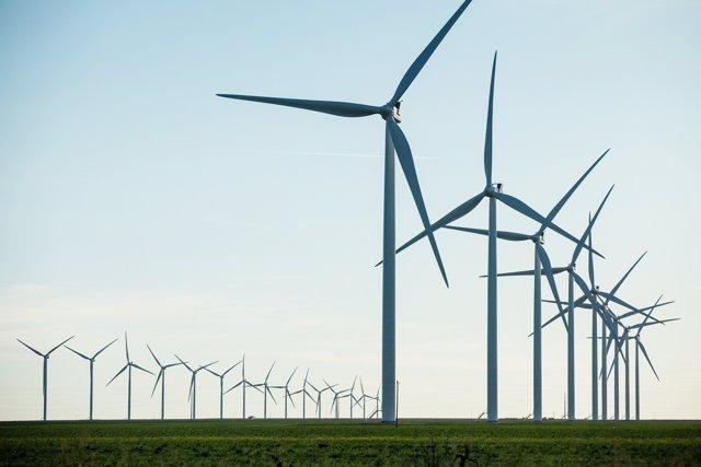 Parque eólico de Vestas en South Plains (Texas, Estados Unidos)