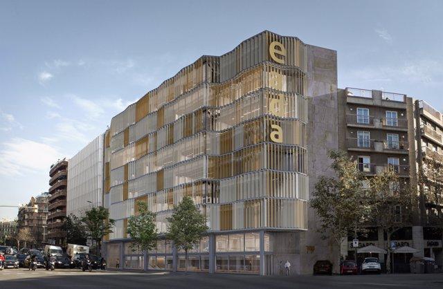 Imatge virtual de la nova façana de l'edifici d'Eada a Barcelona