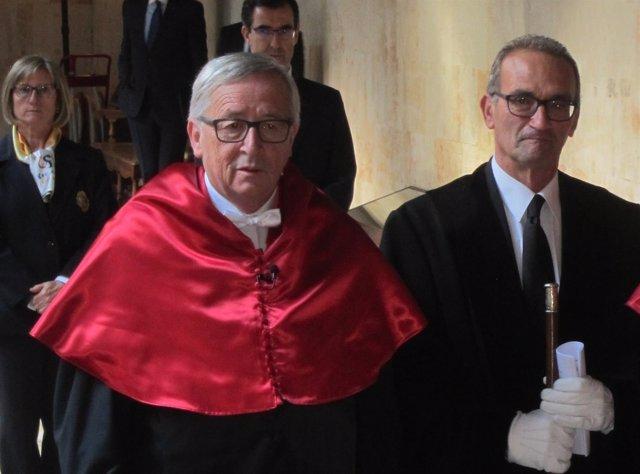 Salamanca: Juncker Al Llegar Al Paraninfo De La USAL
